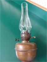 (2) Brass Kerosene Lanterns