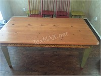 Farm Style Hand Painted Wood Table