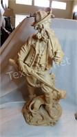 LE Wood Carved Hunting Figurine
