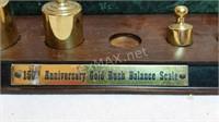 150th  Anniversary Gold Balance Scale