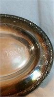 Acanthus Silver Plate Oval Bowl