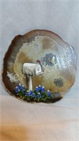 Hand Painted Blue Bonnets on Rock