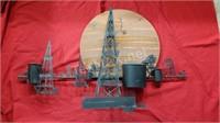 Metal Art Texas Oil Field Scene