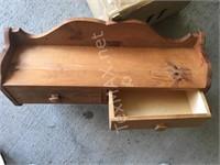 Wood 2 Drawer Shelf Rack
