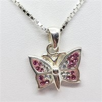 Silver Cz   Necklace (~weight 4.5g) (152 - CR116)