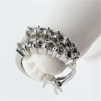 Silver White Topaz  Earrings (~weight 3g) (153 -