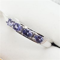 Silver Tanzanite  Ring (~weight 4g) (166 - CR116)