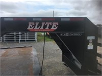 2019 32' Elite Dual Tandem Trailerw/ Mega Ramps