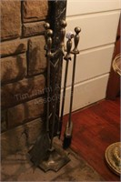 Fireplace Tools and Stand- Bronze Finish