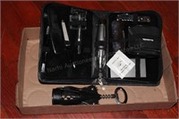 Men's' Shaver/Hygiene Kit with Case, Wine Opener