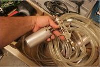 Pneumatic Spray Guns, Hoses, Dial Indicator, etc