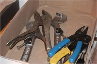 12pc Clamps, Wrenches, Electrical Pliers, ViceGrip