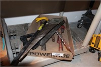 9pc Pipe Wrench, Hand Saw, Wrecking bar