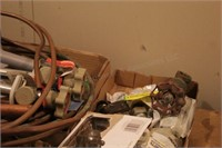 Plumbing Fittings, 8' Copper Pipe, Strap Clamps, &
