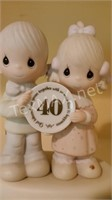 Jonathan & David Porcelain Figurine w Stand