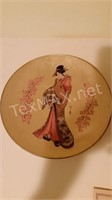 2 Vintage Golden Plates of the Noble Maidens