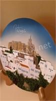 2 3D Hans Painted Porcelain Plates