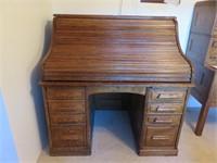 Cutler & Son Wood Rolltop Desk