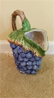 Hand Painted Grape Designed Pitcher