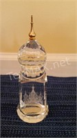 Leaded Crystal Palace Paper Weight