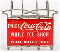 Coca-Cola Shopping Cart Drink Holder From 1950's