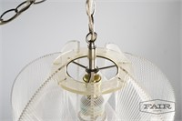 Lucite and Plastic Cord Hanging Pendant Lamp