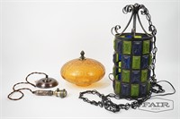 Lot of Hanging Lamp and Parts