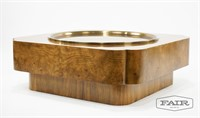Baker Furniture Coffee Table with Brass Top