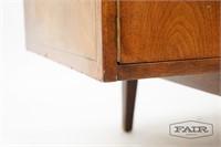 American of Martinsville Walnut Long Low Dresser
