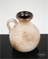 W. Germany Brown and Beige Ceramic Vase
