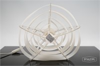 Clear and White Plastic Lamp
