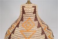 Basket Weave Style Ceramic Lamp