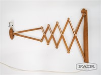 Extendable Wooden Wall Sconce