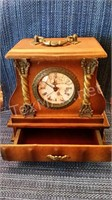 Bellla Casa Wooden Battery Clock with Drawer