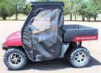 2007 Polaris Ranger XP Side-by-Side, 700 twin elec fuel inj gas eng, dump bed, canvas cab, 4x4, 6905 hrs, runs good, has title (view 1)