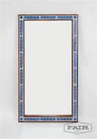 Rosewood and Tile Framed Mirror