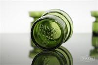 Set of 4 Green Glass Dansk Candle Holders
