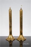 Pair of Svend Jensen 'Oil' Brass Candlesticks