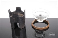 Iron/Glass Candle Holders
