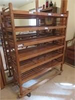 Wood Bakers Rack