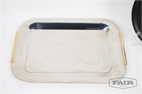 Stainless Tray and Couroc Tray