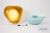 Russell Wright Dish and Eloxsen Dish