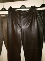 3 Pair of Very Nice Doncaster Leather Pants