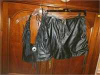 Beautiful Complete Leather Women's Outfit Size 12