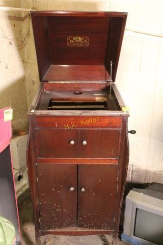 Vintage Victrola Cabinet H K Keller