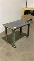 Rolling Shop Table w/ Vise-