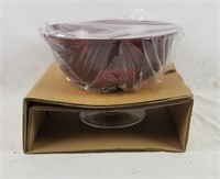 Party Lite Ruby Red 3-wick Holder P9897