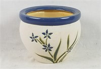 Lot Of 5 New Ceramic Planters Floral