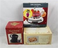 New Mug Beverage Warmer, Music Box & Kitchen Scale