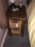 Set of 2 End Tables With Removable Baskets